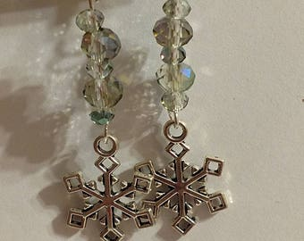 Snowflakes with forest glass