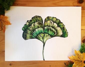 Original artwork, leaf illustration.