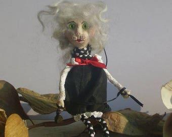 OOAK Art Doll Doll-Brooch Cat  Katty