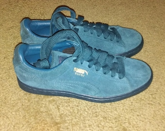 90s PUMA  Suede Teal Size US 5