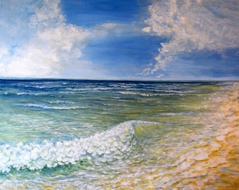 Midday Waves Fine Art PRINT of Original Painting