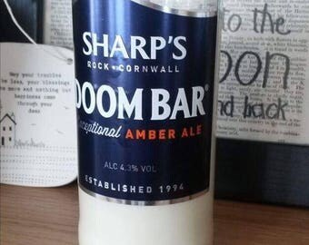 Doombar Beer Bottle Soy Wax Candle Filled to Order