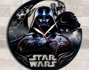 Star Wars vinyl sticker clock Star Wars decor Star Wars Darth Vader Star Wars Death Star Star Wars Christmas gift Star Wars horloge Star War