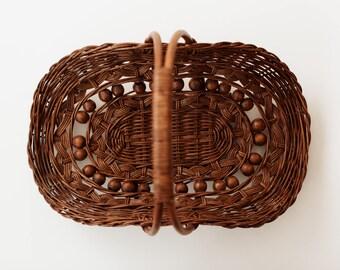 Vintage Handled Basket