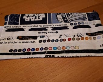 Handmade Star Wars 'Salvage' edge zip purse, cosmetic purse, pencil case, brush holder