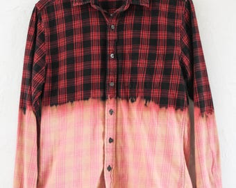 Bleached Flannel Red & Black