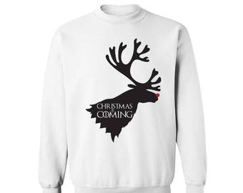 Game of Thrones Inspired Christmas is Coming House Stark Sweatshirt
