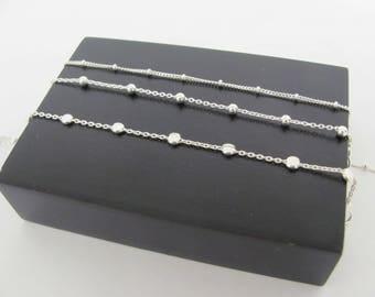 Set of 3 Silver Bead Bracelet, Dainty  Bracelet, Sterling Silver Disc Bracelet, Stacking bracelet, layering bracelet, silver disc bracelet