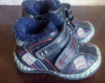Baby leather boots. the size:21