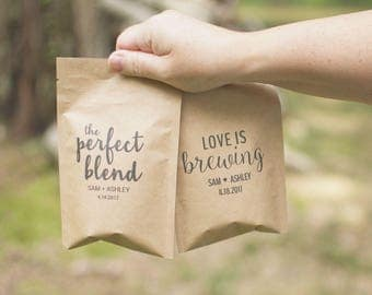 Bridal Shower Favors-Coffee Wedding Favors-Rustic Wedding Favors-Love Is Brewing-The Perfect Blend-Wedding Favors Coffee-Barn Wedding