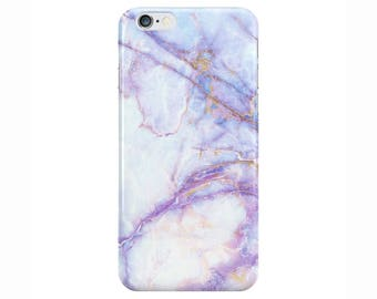 Purple Galaxy Marble Phone Case Cover for Apple iPhone 5 6 6s 7 8 Plus & Samsung Galaxy