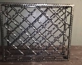 Handmade Ornate Steel Wine Rack