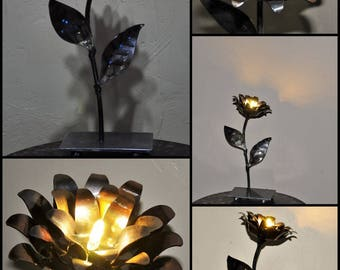 metal flower lamp