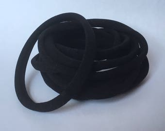 12 black bands | wholesale bulk nylon band | headband | newborn / baby girl / little girl / adult / no dent