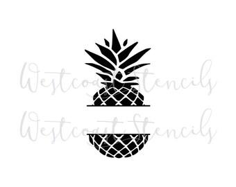 Pineapple stencil   Etsy Pineapple Stencil