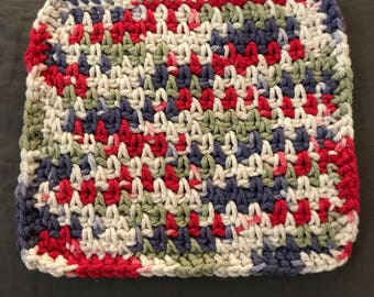 Multicolor Crochet Dish Cloth