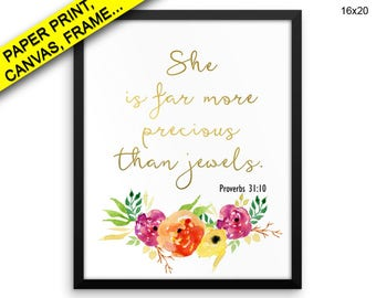 She Is Far More Precious Than Wall Art Framed She Is Far More Precious Than Canvas Print She Is Far More Precious Than Printed Poster Jewels