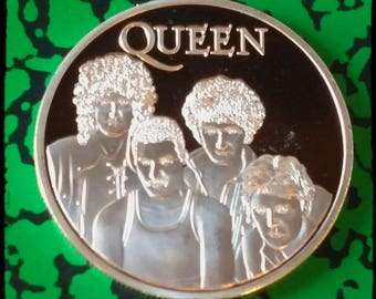 Queen Rockband Silver Plated Art Coin