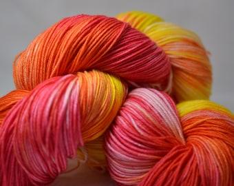 Hand dyed sock yarn - Crayons