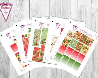 Christmas Joy (vanilla skin tone) - Printable Erin Condren Weekly Kit w/Cut Line