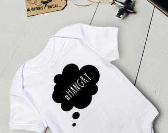 Baby Outfit/ Baby Onesie/ Funny Baby Onesie/ Baby Clothes/ Baby Shower Gift/ Baby Bodysuit/ Hangry/ Hangry Shirt/ Hangry Onesie/ Cute Baby