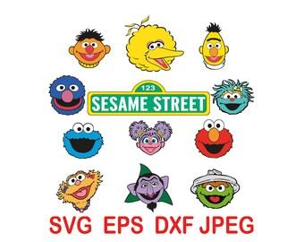 123 Sesame Street.svg,eps,dxf,png.