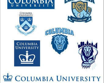 State University svg Columbia University svg Columbia Lions svg Digital Download For Cameo or Cricut svg png eps dxf files