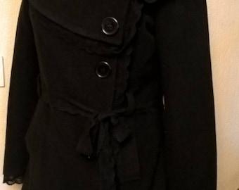 Jacket three quarter black color