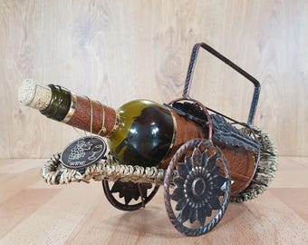Vintage Metal Wine Rack, Wine Holder, Wine Rack, Metal Wine Stand, Wine Bottle Holder