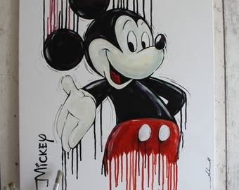 Mickey Mouse Painting - Original one of a kind hand painted on canvas