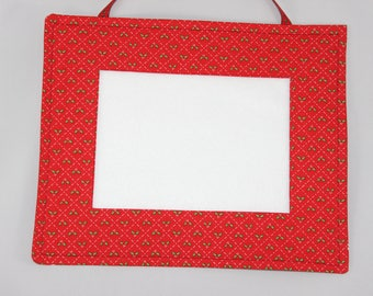 fabric Christmas picture frame for cross-stitch,embroidery or photos
