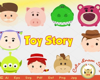 tsum tsum svg, toy story svg, woody svg, Silhouette Stud Cricut Cameo Files Silhouete cut tzum woody buzz jessie lotso marcianos espinas