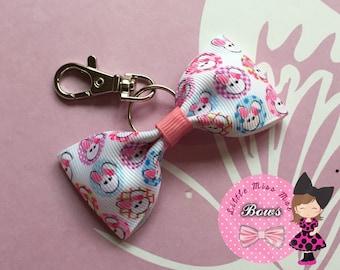 Bunny bow bag charm