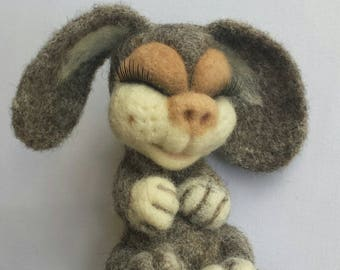 Needle felted toy, good luck rabbit.