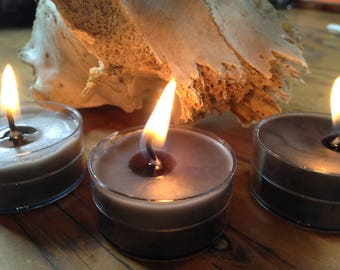 10 Gray pine beeswax candles