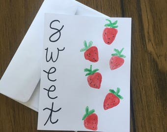 Strawberry Sweet Greeting Card
