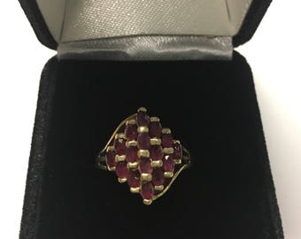 Vintage Solid 10k Gold Ruby Ring