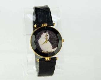 Super Rare Hand Painted Art Collectors Cat Watch