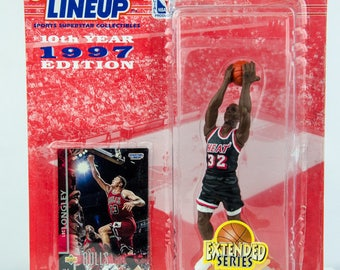 ERROR - Starting Lineup 1997 NBA Luc Longley Action Figure Chicago Bulls Heat