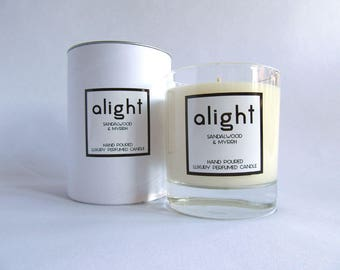 Sandalwood & Myrrh - Luxury Hand Poured Scented Container Candle