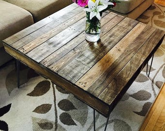 Hair Pin Leg Pallet Coffee Table