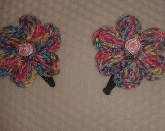 Crocheted hair slides