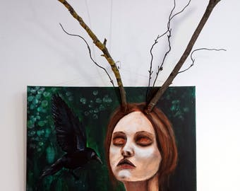 "Acrylgemälde ""Heart of nature"""
