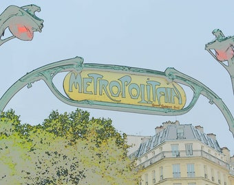 Digital Download Photography - Paris Metro