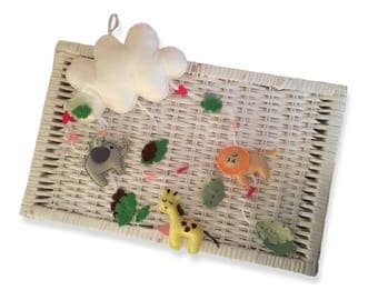 Large hand made felt mobile in jungle animal theme - made to order