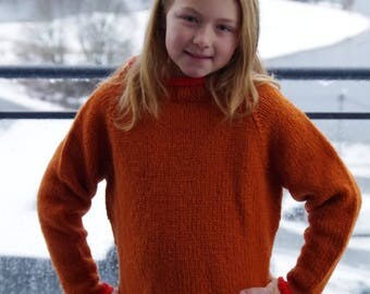 Sweater in wool for girls and boys size 10-12 yrs