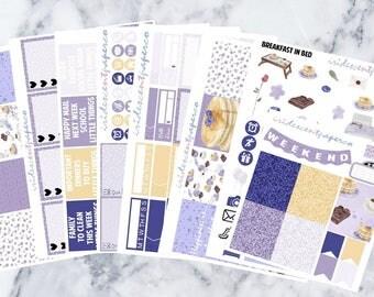 Breakfast In Bed // Weekly Planner Stickers // Erin Condren