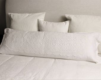 Body pillow case, Modern farmhouse, Body pillow, Farmhouse pillows, Vintage boho bedding, Boho pillow, Fixer upper style, Bohopillow,