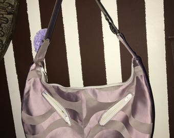 Violet Hobo Purse- Handmade, unique and elegant- Khobo Collection
