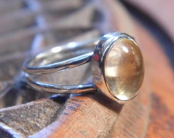 Ring silver and Citrine